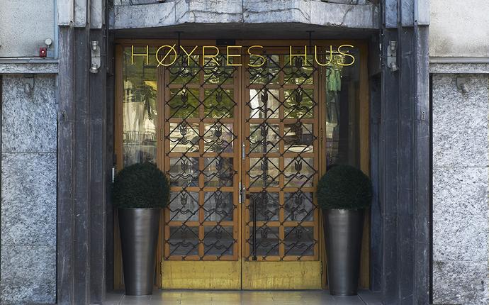Høyres Hus Konferanse & Selskapslokaler - Inngangsparti