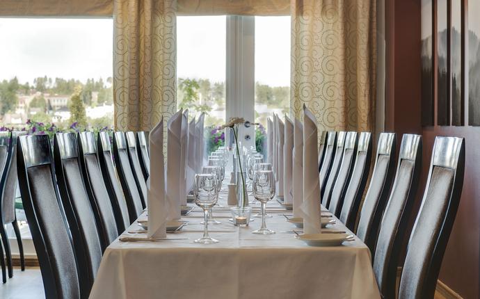 Restaurant med utsikt over fjorden