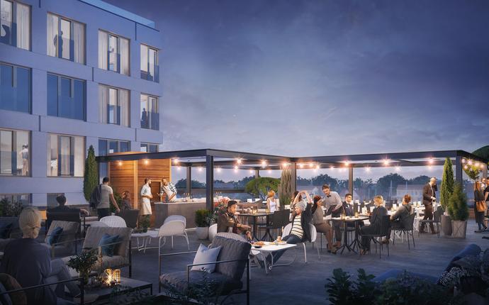 Mandal Hotell - åpner 2. mai 2019 - Takterrasse
