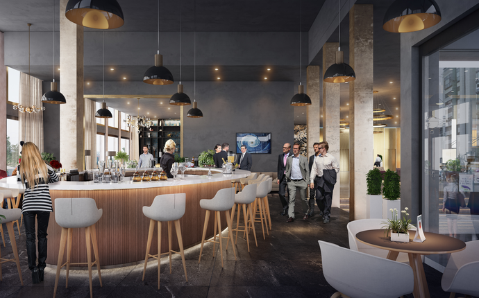 Clarion Hotel The Hub åpner 1. mars 2019! - Lobby & bar