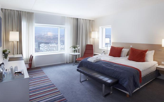 Crowne Plaza Copenhagen Towers - Hotellets 366 værelser er fordelt på 25 etager.