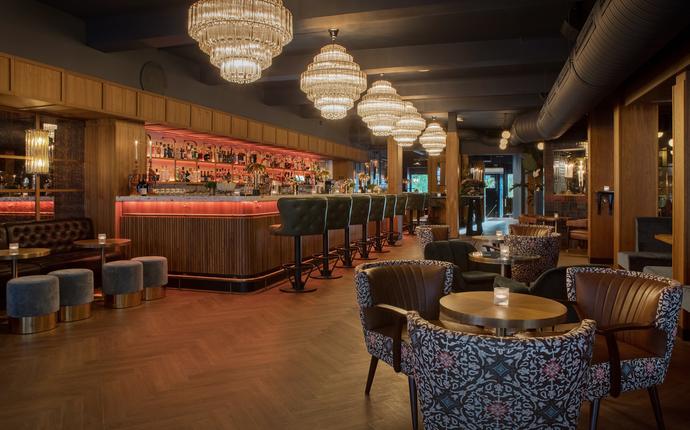 Bygdøy Allé 3 - Hovedbaren - Lounge og mingelområdet