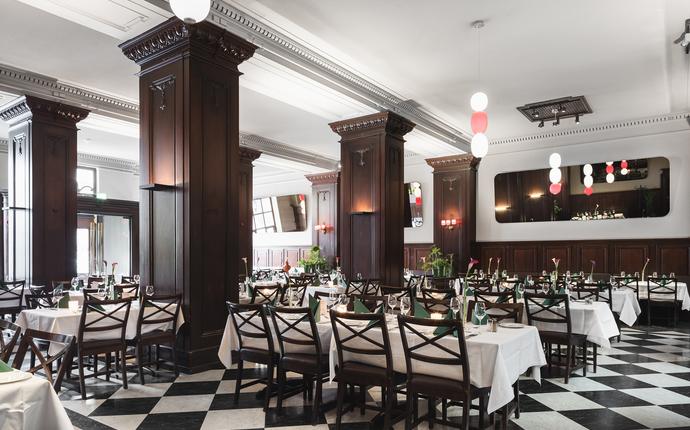Grand Hotel Terminus - I brasseriet serveres frokost og lunsj.