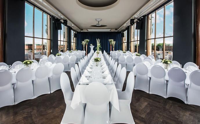 Stratos Konferanse & Selskapslokale - Toppetasjen - formell middag for inntil 210 personer