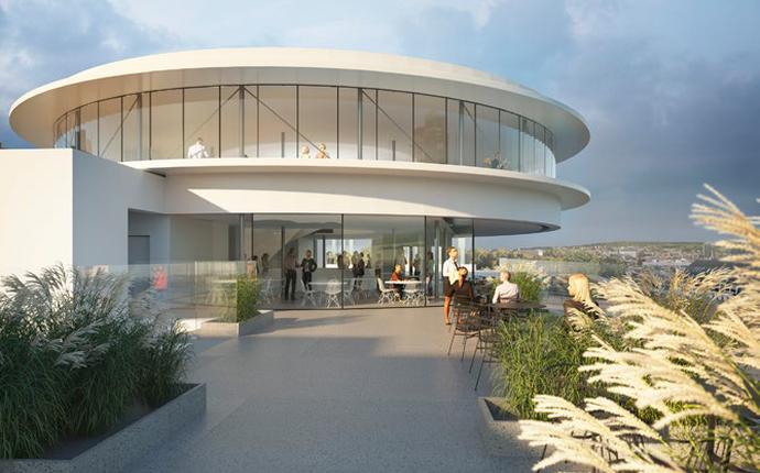 Sommerro - åpner sept. 2022 - Takterrasse med restaurant og bar