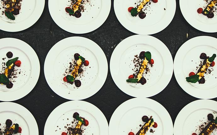 Gamle Museet Konferanse & Selskapslokale - Dessert servert til bankett