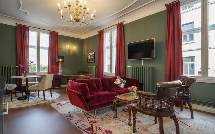 First Hotel & Suites Oslo West - Stue/møterom i Dr. Lindboes kontor