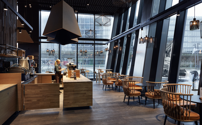 Crowne Plaza Copenhagen Towers - Orango Coffee er hotellets egen café, og serverer snacks, let mad og bæredygtig kaffe