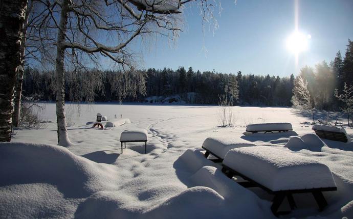 Sørmarka Konferansehotell - Syverudtjern vinter