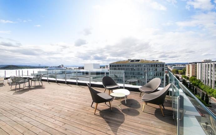 Clarion Hotel Oslo - Suiten i toppetasjen har privat terrasse på 120 kvm
