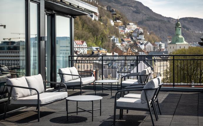 Clarion Hotel Bergen - Takterrasse tilknyttet suite