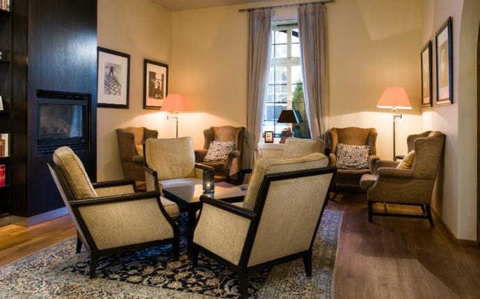 Clarion Collection Hotel Gabelshus - Sittegruppe i spisestuen