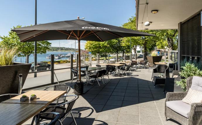 Hotel Klubben - Hyggelig terrasse