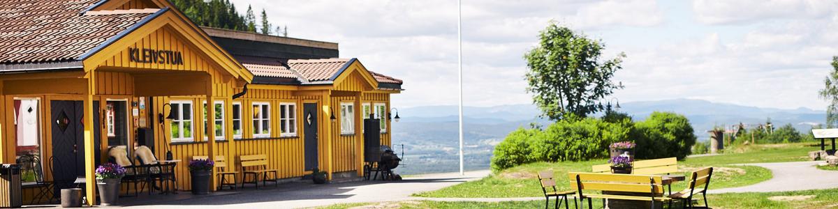 Kleivstua med utsikt mot Steinsfjorden