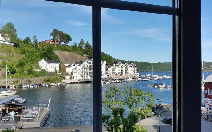 Tvedestrand Fjordhotell - Rom med utsikt